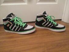 Used Worn Size 13 Adidas Hardcourt Hi 2 Shoes Black Gray Lime White Silver