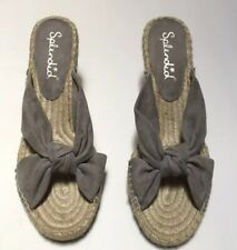 Splendid Grey Knotted Suede Espadrille 8.5