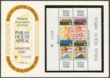 1978 Australia Sc #648 Stamp Week Mini-Sheet  00006000 Philas House Surcharge and Cancel