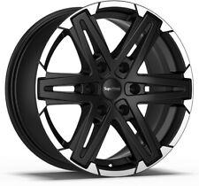 Alloy Wheels (4) 8.5x18 SuperMetal Compass Black Polished Lip 6x139.7 et40
