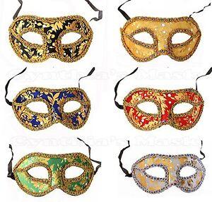 Venetian Masquerade Mask w/Rainbow Trim for Party Prom Mardi Gras Costume