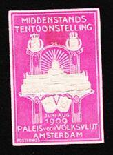VINTAGE CINDERELLA Middenstands Expo Embossed 1909 Old HingeTape Remnant G