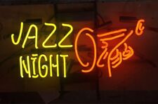 "17""x14""JAZZ NIGHT Neon Sign Light Retro Beer Bar Pub Wall Hanging Visual Artwork"