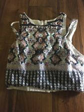 Kendall & Kylie Sleeveless Top Multicolored Zip Back Size Xs Preowned