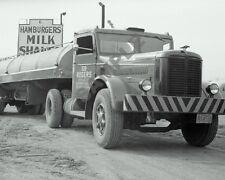 "1940's Hendrickson Road Tractor Semi Truck Rig Tanker Trailer 8""x 10"" Photo 49"