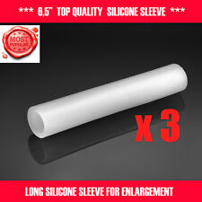 3 PCS 6'' SILICONE SLEEVES FOR EXTENDER CLAMPING STRETCHER HANGER PUMP JELQING