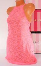 VICTORIA'S SECRET Lingerie Allover Lace Racerback Babydoll Unlined M Medium Pink