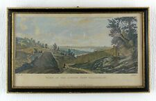 "VIEW OF OLD LONDON FROM BLACKHEATH - HAND COLOURED ENGRAVING (1776) - 11.5"" x 7"""