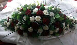 Wedding Top Table Decoration Roses & Bear Grass Reception Registrar Table