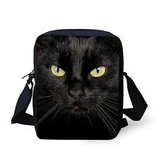 Black Cat Fashion Shoulder Bags Casual Cross Body Bags Sling Bag Handbag Purse