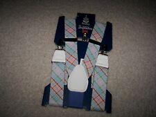 Wembley Top Notch Men's Adjustable Suspenders One Size Pastel Pattern