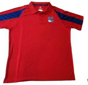 Fanatics NHL New York Rangers Hockey Red Polo Shirt Men Size 3XL New