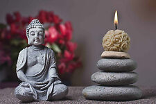 STUNNING BUDDHA STATUE CANDLE CANVAS #386 QUALITY CANVAS PICTURE ZEN WALL ART