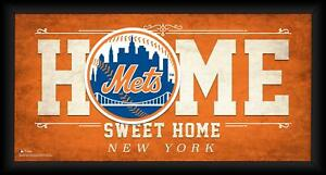 """New York Mets Framed 10"""" x 20"""" Home Sweet Home Collage"""