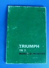 Triumph TR7 manuel d'entretien en français 1977