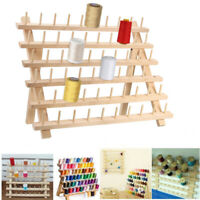 Wooden Sewing Thread Rack Holder Embroidery Thread Organizer with 60 Spools Rack