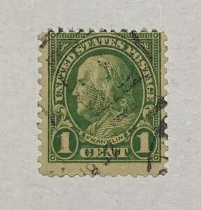 1 Cent Francobollo Franklin USA 11 Denti
