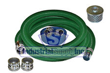 "2""x20 ft Heavy Duty Green SuperFlex Complete Hose Kit W/50' Blue Discharge Hose"