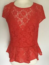 Lipsy Ladies Coral Short Sleeve Top Size 12. Great Condition.