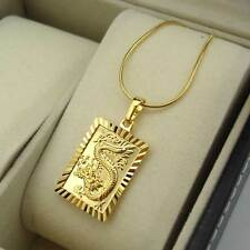 """18K Yellow Gold Filled Necklace Dragon Pendant 18""""Chain Link GF Fashion Jewelry"""