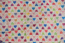 Eco Foldable Fashion Shopping Tote Bag Multi Color Hearts Quilt Patterns