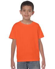 Gildan Kids Childrens Heavy Cotton Plain t-shirt - 100% Preshrunk Jersey Cotton