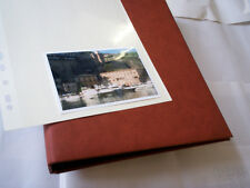 Album photo rechargeable pages adhésives autocollantes neuf bordeaux fab.Europe!