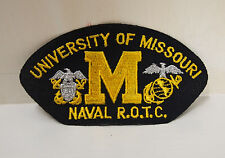 2 University of Missouri Naval ROTC patches patch R.O.T.C. memorabillia New