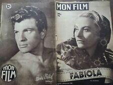 "MON FILM 1949 n 162 "" FABIOLA"" avec MICHELE MORGAN et HENRI VIDAL"