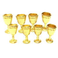 1:12 Scale Dollhouse Accessories,8pcs Miniature Goblet Wine Glasses Champagne