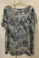 Sportscraft animal print linen jersey TOP, size S, NEW w tag, great condition