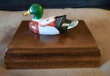 Mallard Duck Wooden Hinged Card Box