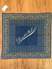 RRL Logo Paisley Indigo Blue Bandana Handkerchief NWT Ralph Lauren Made In Japan