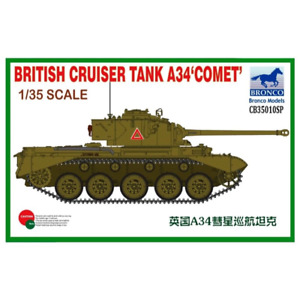 Bronco CB35010SP 1/35 British Cruiser Tank A34 Comet Special Edition Brand New