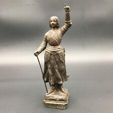 Ancienne Statuette Jeanne d'Arc Régule Patiné Spelter