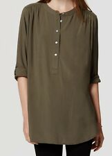 Ann Taylor LOFT Henley Utility Tunic Top Size Medium, Large NWT Various Colors