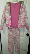 Youth Girls Large 10 12 Childrens Place Pink Shirt Camouflage Thick Jacket Pants
