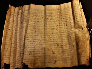 VERY OLD MEDIEVAL LATIN MANUSCRIPT on VELLUM - 1368 - HANDSCHRIFT auf PERGAMENT