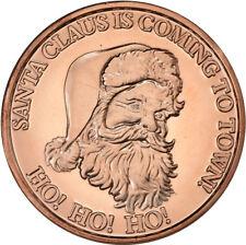 100 SANTA HO HO HO 1 OZ Ounce Of Copper Bullion ROUNDS lot # C93