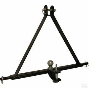 3 POINT LINKAGE TOW HITCH Compact Tractor Mounted Towing Cat 1 Triangle Pin TE20
