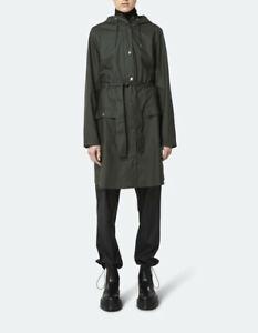 Rains Womens Curve 1206 Jacket Green M/L