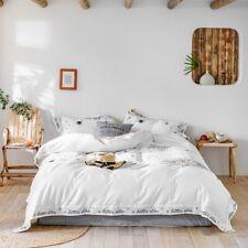 Egyptian Cotton Bed Linen Satin Bedding Leaf Sun Stars Duvet Cover Pillowcases