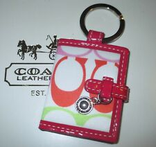 "Coach Signature ""C"" Picture Photo Frame Key Fob Chain Keychain NEW RARE"