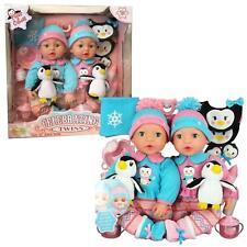 "NEW Brass Key Celebrating Twins 15"" Tall Baby Dolls POLAR CUTIES 2 Doll+Penguin"