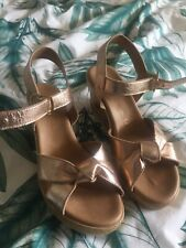 gold wedges size 6 By Next