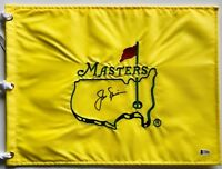 Jack Nicklaus signed Masters golf flag undated augusta national beckett loa psa