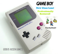 *RESTORED* ORIGINAL NINTENDO GAME BOY DMG-01 HANDHELD CONSOLE *NEW GLASS LENS*