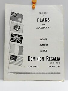 Vintage - DOMINION REGALIA LIMITED - Flags and Accessories Catalog & Price List