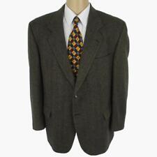 44 S Cricketeer Brown Tweed Wool 2 Btn Mens Portly Jacket Sport Coat Blazer Mint