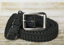550 Lb. Survival Military Grade Paracord Belt + FREE Matching Paracord Bracelet